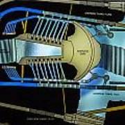 Hoover Dam Diagram Art Print