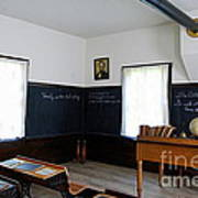 Hoover Historic Site Schoolhouse Classroom Art Print