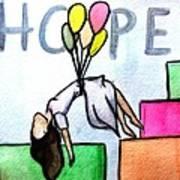 Hope Afloat  Art Print by Kiara Reynolds