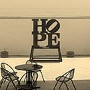 Hope And Chairs In Sepia Art Print