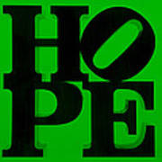 Hope In Green Art Print