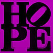 Hope In Purple Art Print