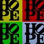 Hope In Quad Colors Art Print