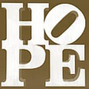 Hope Inverted Brown Art Print