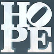 Hope Inverted Denim Art Print