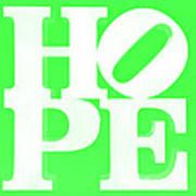 Hope Inverted Green Art Print