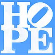 Hope Inverted Light Blue Art Print