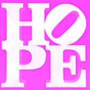 Hope Inverted Pink Art Print