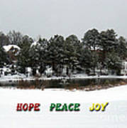 Hope Peace Joy Art Print