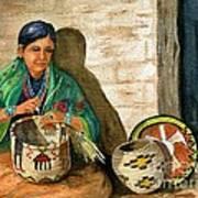 Hopi Basket Weaver Art Print