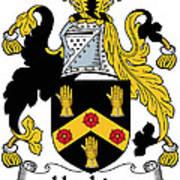 Hopkins Coat Of Arms Irish Art Print
