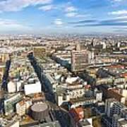 Horizontal Aerial View Of Berlin Art Print
