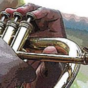Horn Player 0072 Art Print