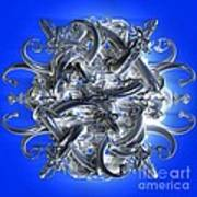 Horned Circle Blue Art Print