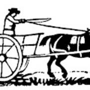 Horse & Cart, 19th Century Art Print