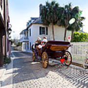 Horse And Buggy Ride St Augustine Art Print