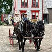 Horse And Buggy Sc3643-13 Art Print