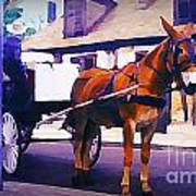 Horse And Carriage In Front Of Lafitte's Blacksmith Shop  Art Print