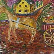 Horse And Cart Art Print by Dozel Lake