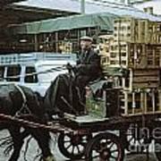 Horse And Cart London 1973 Art Print by David Davies