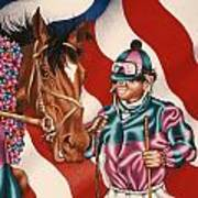 Horse And Jockey Art Print