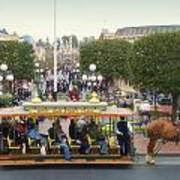 Horse And Trolley Main Street Disneyland 02 Art Print