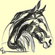 horse - Apple digital Art Print