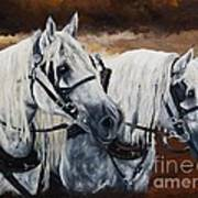 Horse Collar Workers Art Print