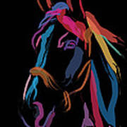 Horse-colour Me Beautiful Art Print