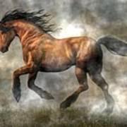 Horse Art Print by Daniel Eskridge