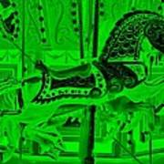 Green Horse E Art Print