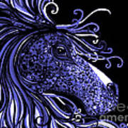 Horse Head Blues Art Print