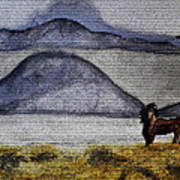 Horse Of The Mountains With Stained Glass Effect Art Print