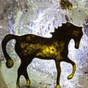Horse On A Quartz Crystal Art Print