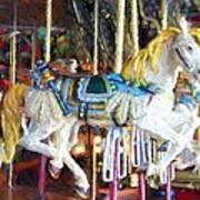 Horse On Carousel Art Print
