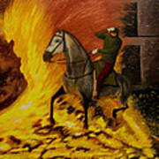 Horse On The Fire Art Print