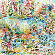 Horse Painting.20 Art Print