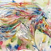 Horse Painting.24 Art Print