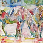Horse Painting.27 Art Print