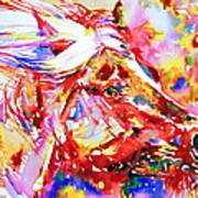 Horse Painting.28 Art Print