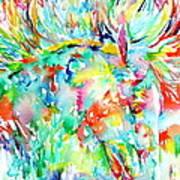 Horse Painting.29 Art Print