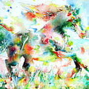 Horse Painting.36 Art Print