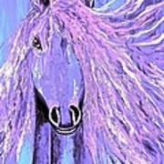 Horse Pale Purple 2 Art Print