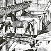 Horse Powered Stall Cleaner, 1880 Art Print
