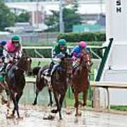 Horse Races At Churchill Downs Art Print