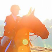 Horse Show Flares Art Print
