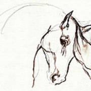 Horse Sketch Art Print