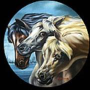 Horse Trio Art Print