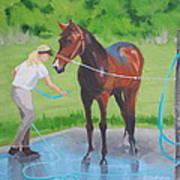 Horse   Wash Art Print