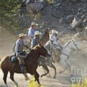 Horsemen Marching In Dust Art Print